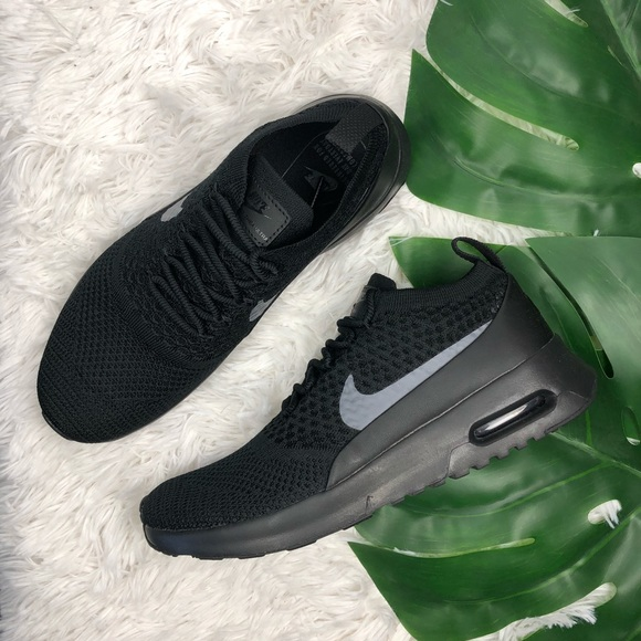 on sale 08f52 ced02 Women's Nike Air Max Thea Flyknit Triple Black NWT